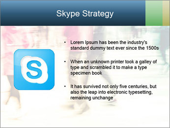 Many People In Motion PowerPoint Template - Slide 8