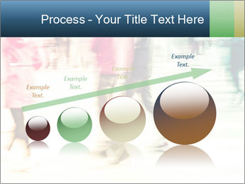 Many People In Motion PowerPoint Template - Slide 87