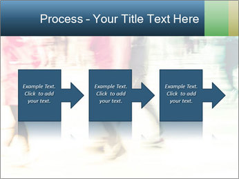 Many People In Motion PowerPoint Template - Slide 88