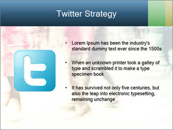 Many People In Motion PowerPoint Template - Slide 9