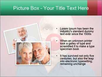 Man With Red Clown Nose PowerPoint Templates - Slide 20