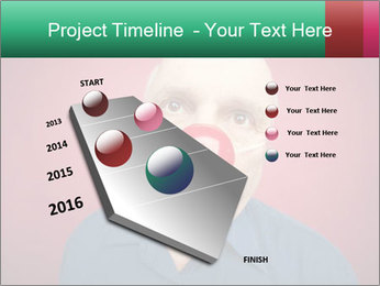 Man With Red Clown Nose PowerPoint Templates - Slide 26