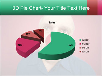 Man With Red Clown Nose PowerPoint Templates - Slide 35