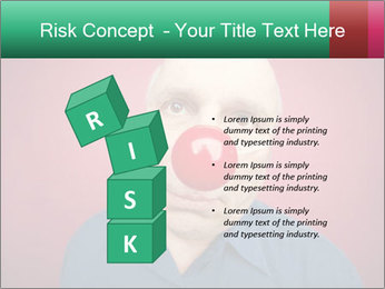 Man With Red Clown Nose PowerPoint Templates - Slide 81