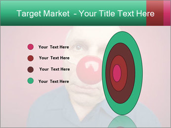 Man With Red Clown Nose PowerPoint Templates - Slide 84