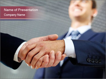 Shake Hands In Business PowerPoint Template - Slide 1