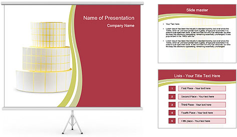 Tower Made Of Sticky Papers PowerPoint Template