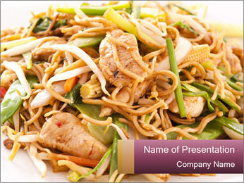 Chinese Way Of Cooking PowerPoint Template - Slide 1
