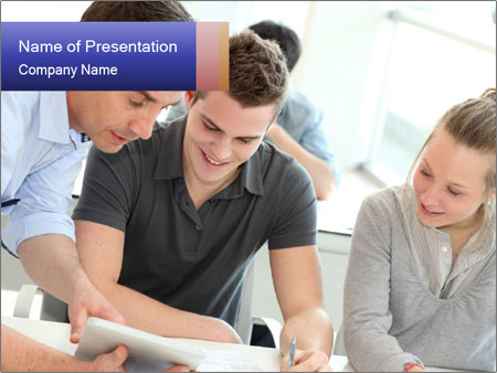 Trainees At Work PowerPoint Templates