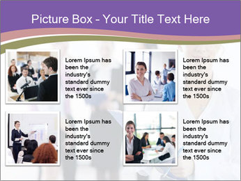 Woman With Colleagues PowerPoint Template - Slide 14