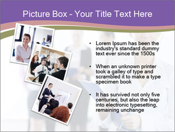 Woman With Colleagues PowerPoint Template - Slide 17