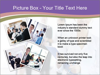 Woman With Colleagues PowerPoint Template - Slide 23