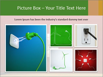 Red Wall With White Plug PowerPoint Template - Slide 19