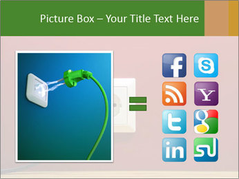 Red Wall With White Plug PowerPoint Template - Slide 21
