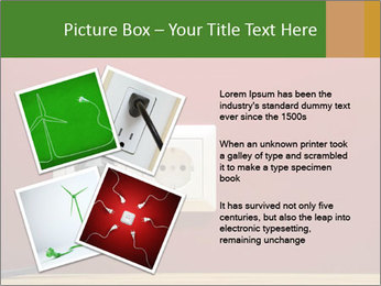 Red Wall With White Plug PowerPoint Template - Slide 23