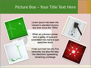 Red Wall With White Plug PowerPoint Template - Slide 24