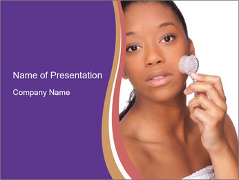 Woman Peeling Skin PowerPoint Template - Slide 1