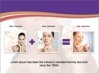 Woman Peeling Skin PowerPoint Template - Slide 22