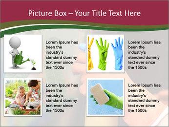 Man Spraying Plants PowerPoint Templates - Slide 14