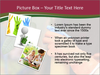 Man Spraying Plants PowerPoint Template - Slide 17