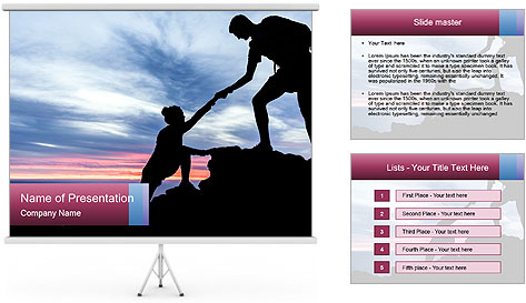 Helping hand PowerPoint Template