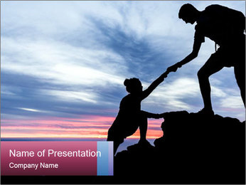 Helping hand PowerPoint Template - Slide 1