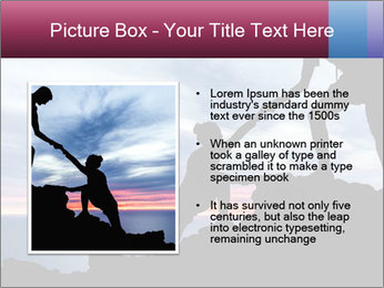 Helping hand PowerPoint Template - Slide 13