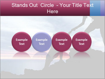 Helping hand PowerPoint Template - Slide 76