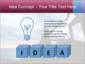 Helping hand PowerPoint Template - Slide 80