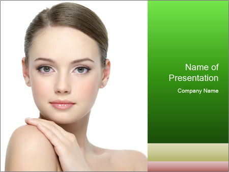 Woman With Healthy Skin PowerPoint Templates