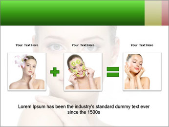 Woman With Healthy Skin PowerPoint Templates - Slide 22