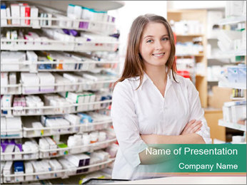 Woman Pharmacist PowerPoint Templates - Slide 1
