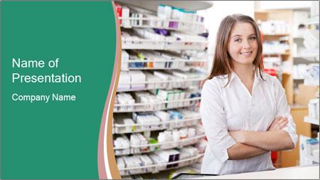 Woman Pharmacist PowerPoint Template