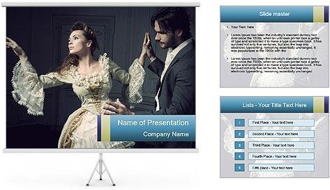 Ball Dance PowerPoint Template
