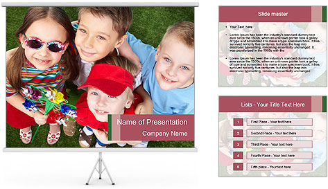 Funny Small Kids PowerPoint Template