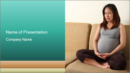 Pregnant Asian Woman PowerPoint Template
