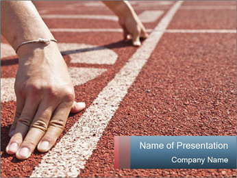 Starting Line For Running Competition PowerPoint Template