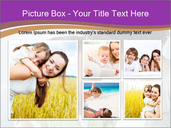 African American mother and daughter smiling PowerPoint Template - Slide 19