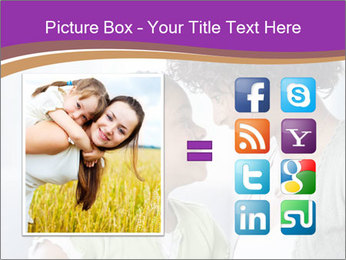 African American mother and daughter smiling PowerPoint Template - Slide 21