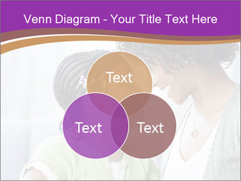 African American mother and daughter smiling PowerPoint Template - Slide 33