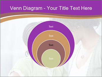 African American mother and daughter smiling PowerPoint Template - Slide 34