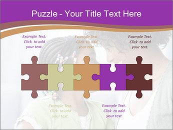 African American mother and daughter smiling PowerPoint Templates - Slide 41