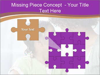 African American mother and daughter smiling PowerPoint Templates - Slide 45