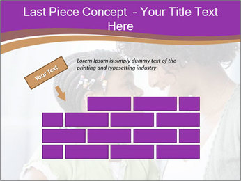 African American mother and daughter smiling PowerPoint Template - Slide 46
