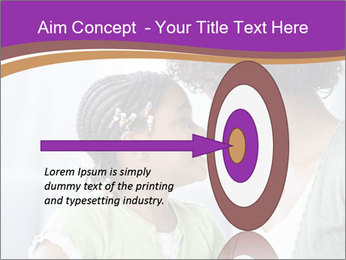 African American mother and daughter smiling PowerPoint Template - Slide 83