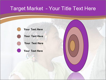 African American mother and daughter smiling PowerPoint Template - Slide 84