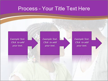 African American mother and daughter smiling PowerPoint Template - Slide 88