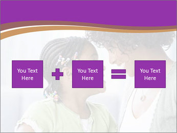 African American mother and daughter smiling PowerPoint Template - Slide 95