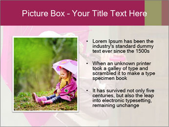 Girl With Pink Umbrella PowerPoint Template - Slide 13