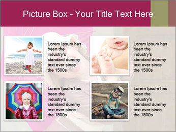 Girl With Pink Umbrella PowerPoint Templates - Slide 14